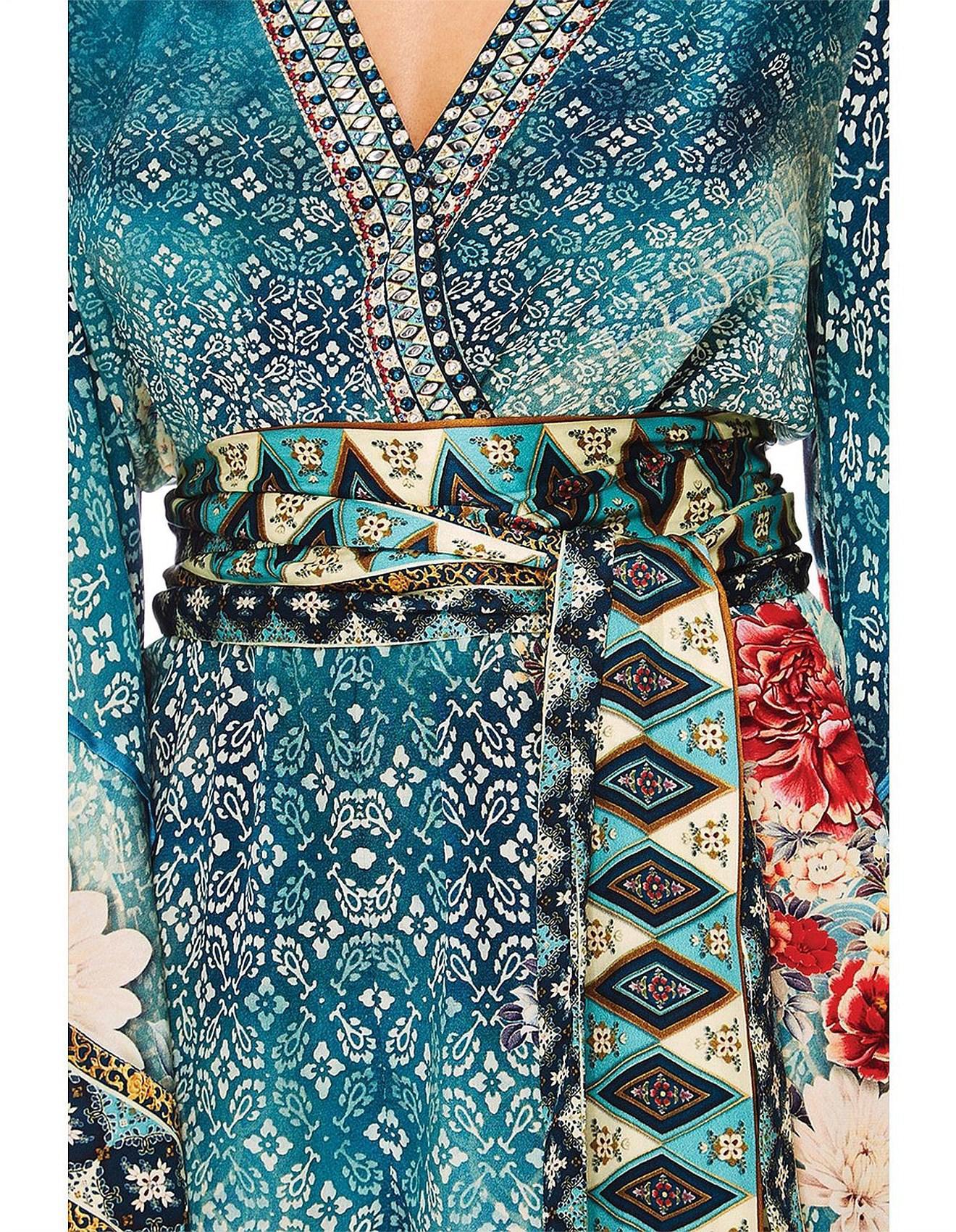 1e157040608 Camilla Her Heirloom Kimono Sleeve Playsuit W  obi Belt in Blue - Lyst