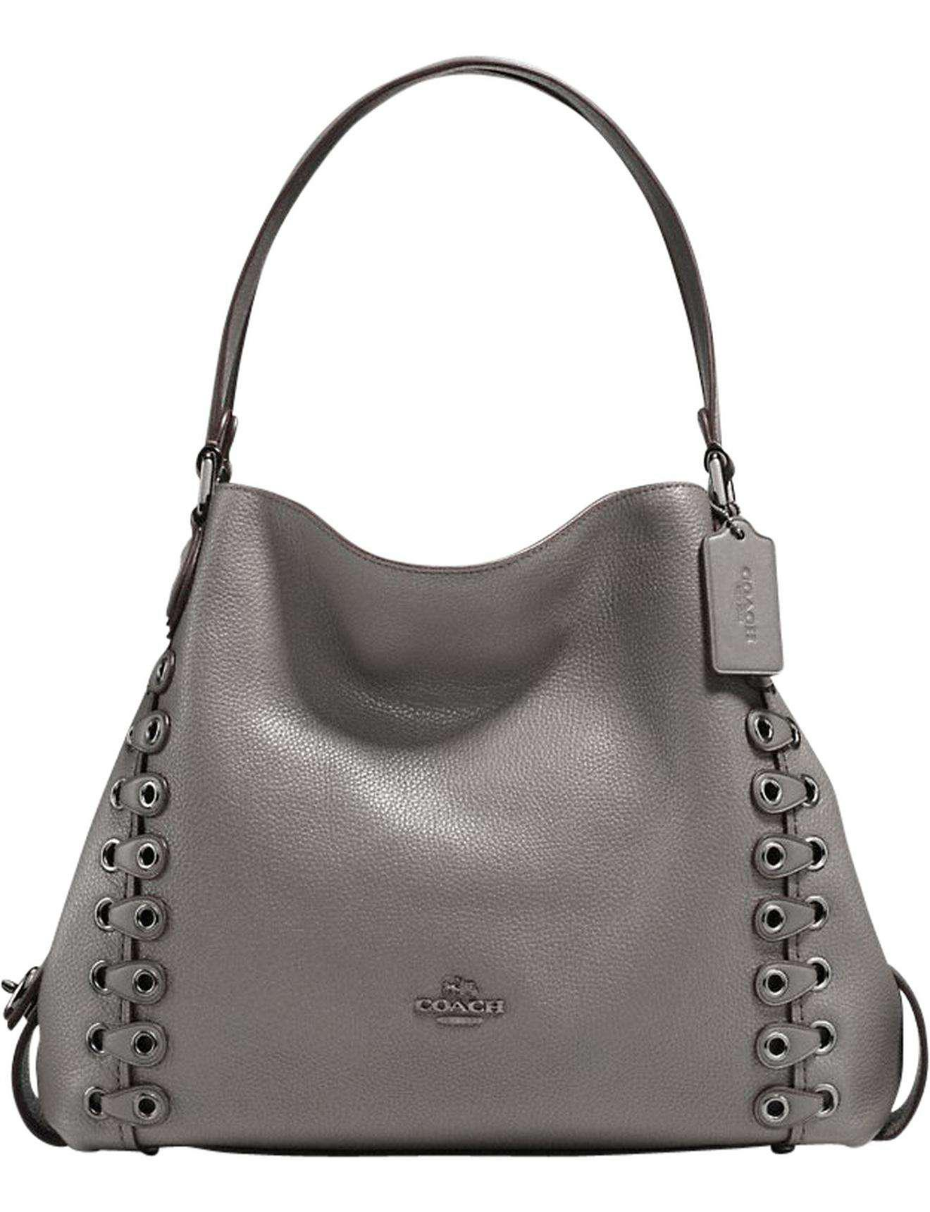 7c8265baa2f COACH Edie Shoulder Bag 31 With Link Detail in Gray - Lyst
