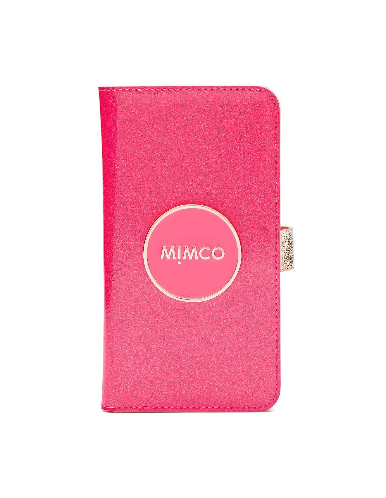 sale retailer 9e399 01ee8 Mimco Pink Shimmer Flip Case For Iphone 6p/7p/8p