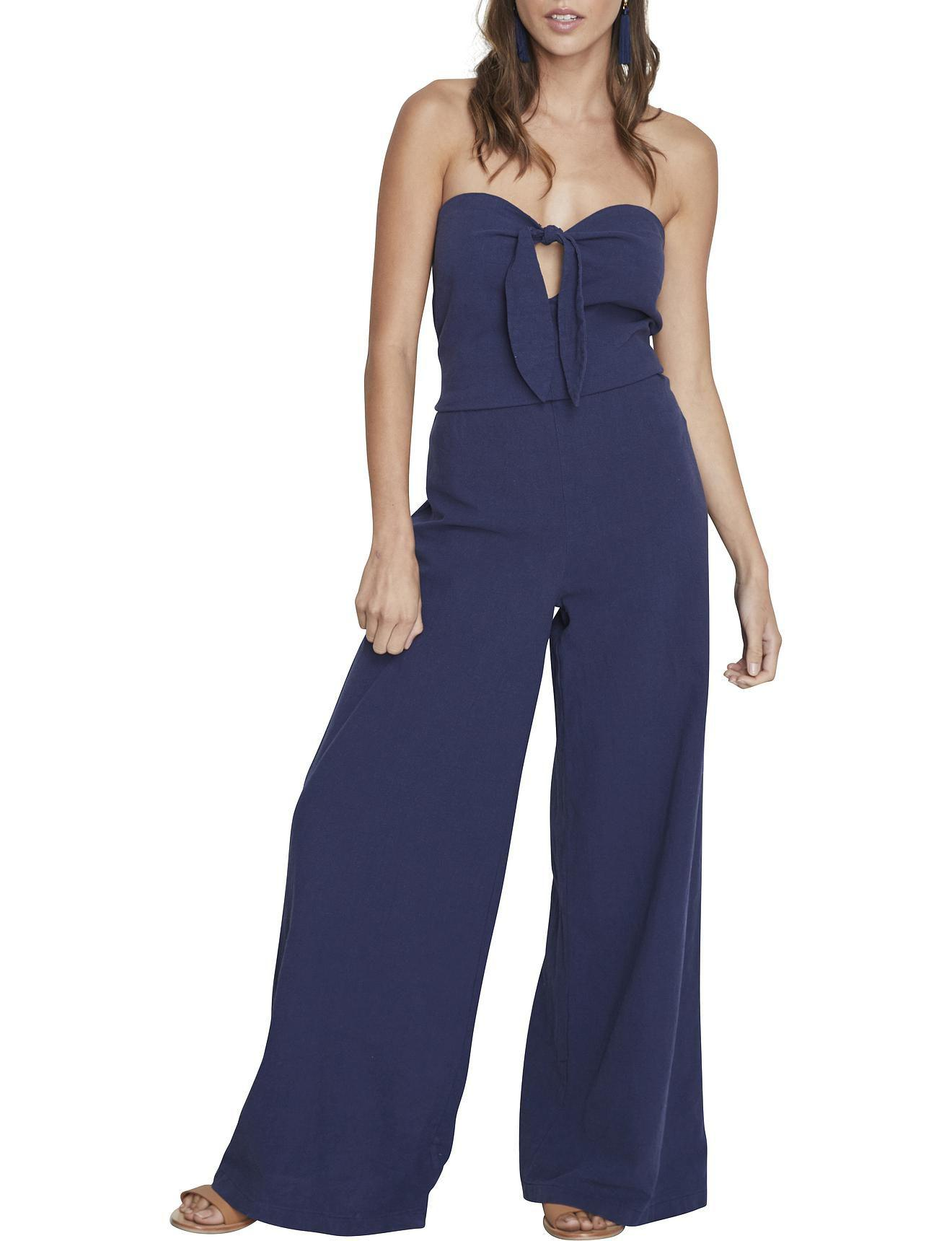 bf4108a7571 MINKPINK Pacifica Tie Front Jumpsuit in Blue - Lyst