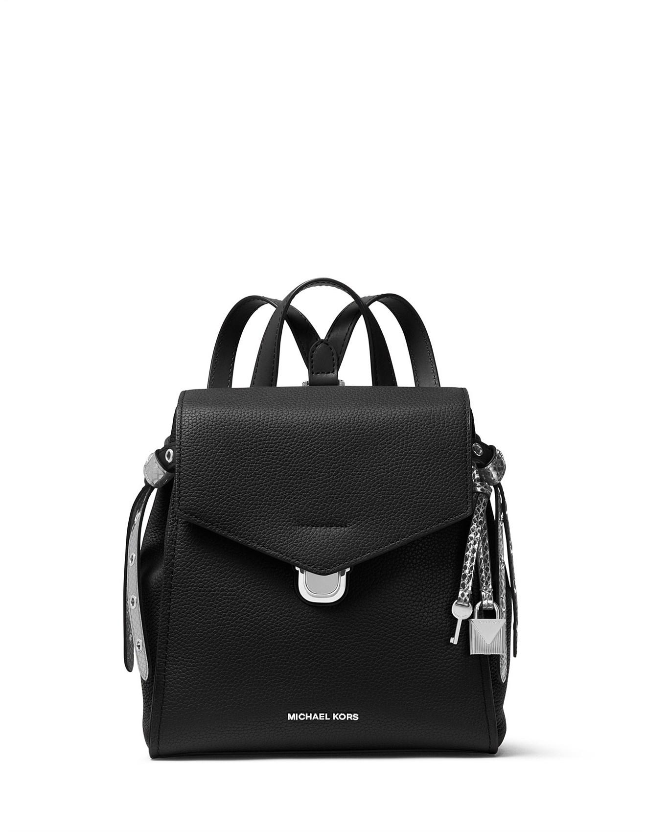 03419be79a9ea Michael Kors - Black Bristol Small Leather Backpack - Lyst. View fullscreen