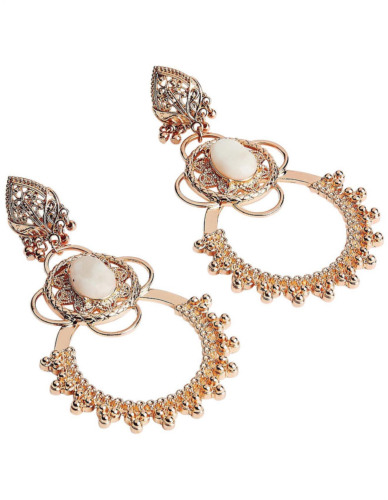 Women S Metallic Montague Cat Grand Earrings