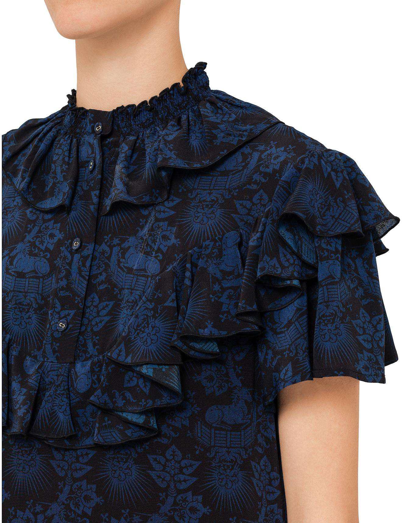 b41f0f108c9 Karen Walker Wynette Ruffle Dress in Blue - Lyst