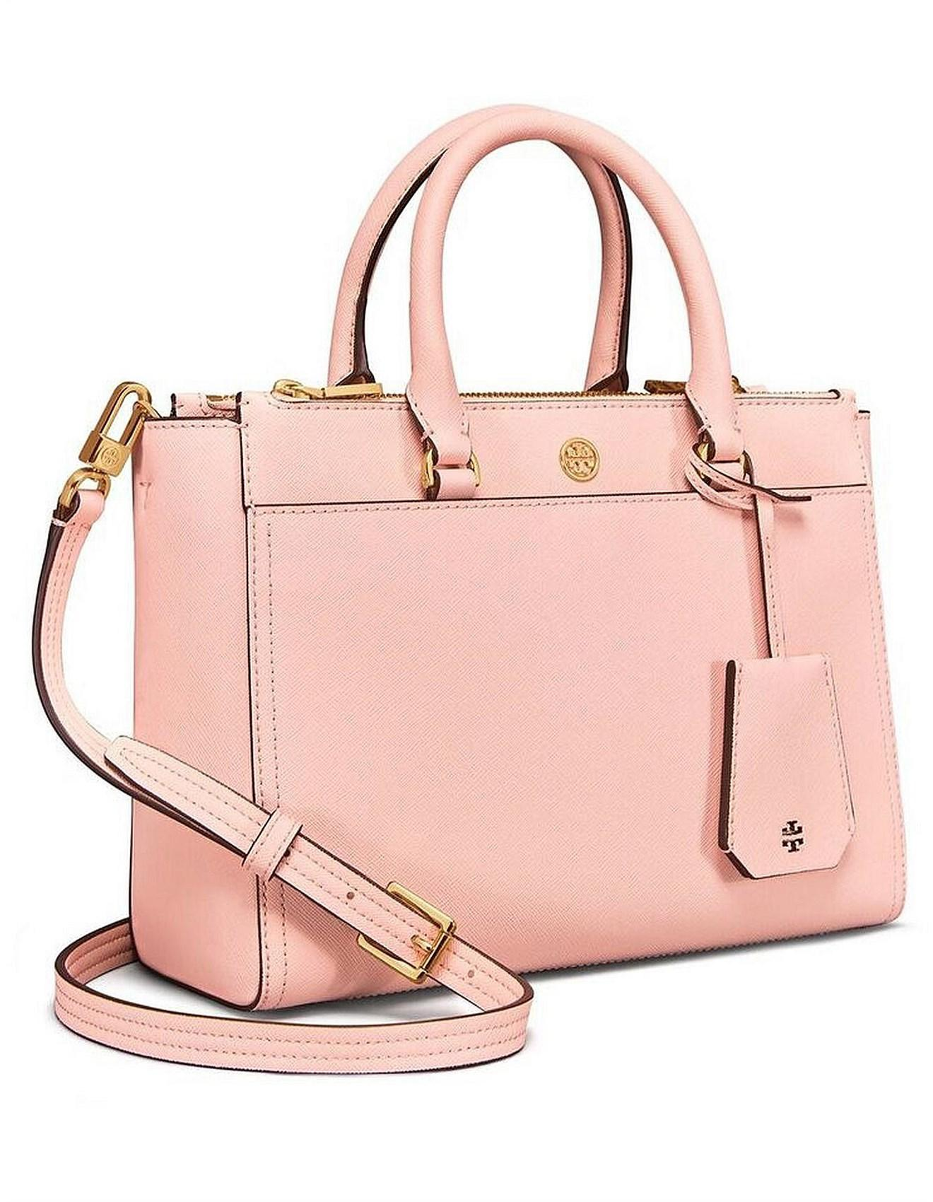 d032dc43b2c3 Tory Burch Robinson Small Double Zip Tote in Pink - Save 54% - Lyst