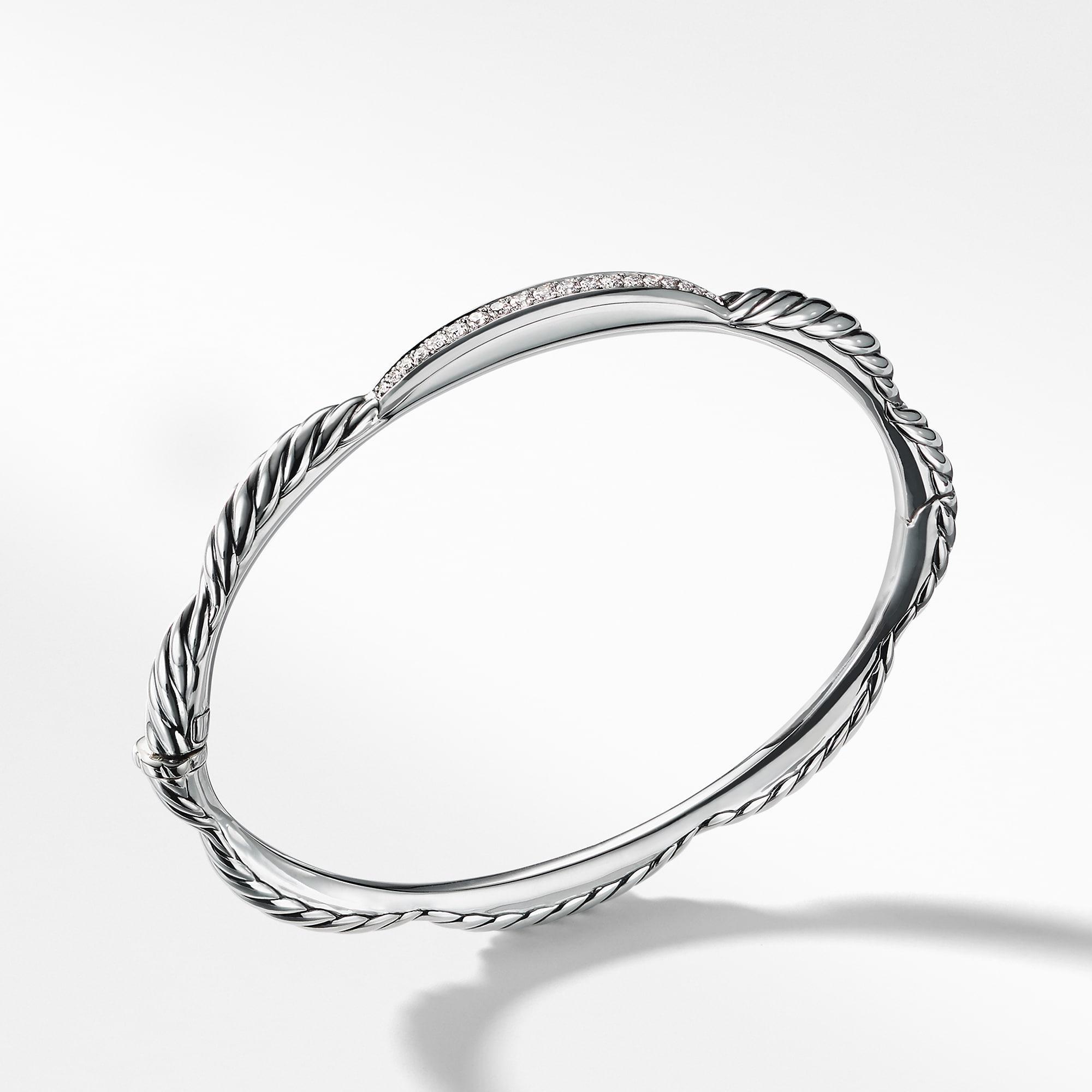 0e6002dd4fc53 David Yurman. Women s Metallic Tides Single Station Bracelet With Diamonds