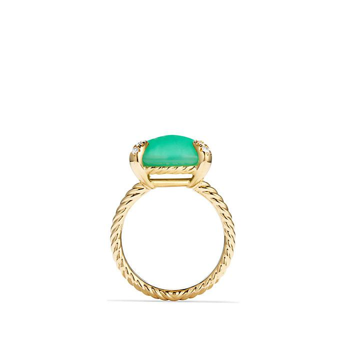 18kt yellow gold Chatelaine chrysoprase and diamond ring - Green David Yurman An8F1WE