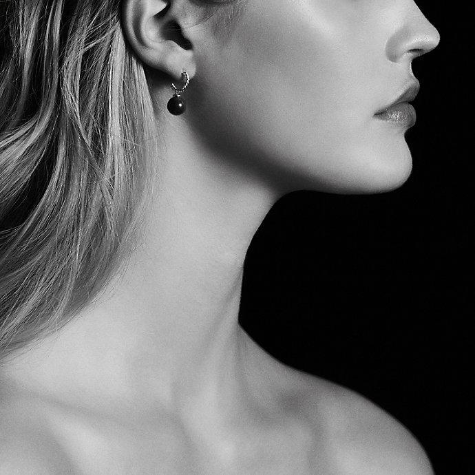 David Yurman Women S Blue Solari Hoop Earrings