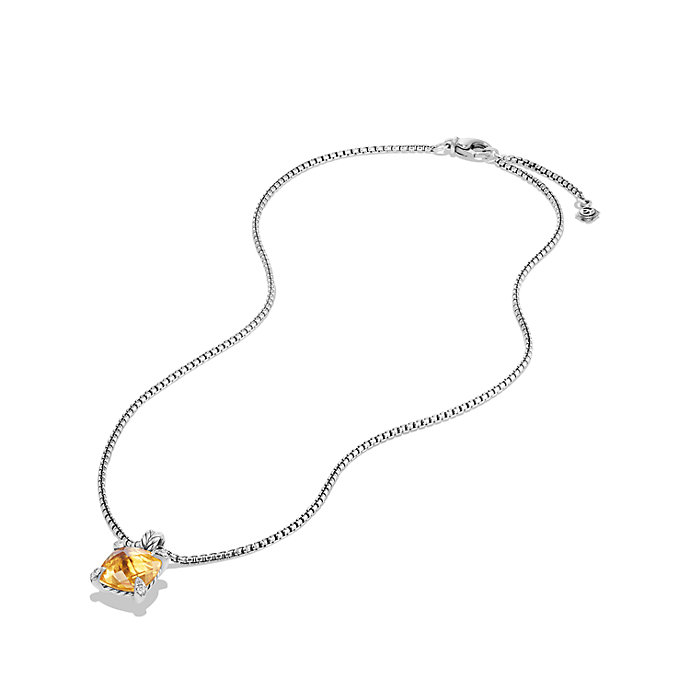 david yurman chatelaine pendant necklace with citrine and