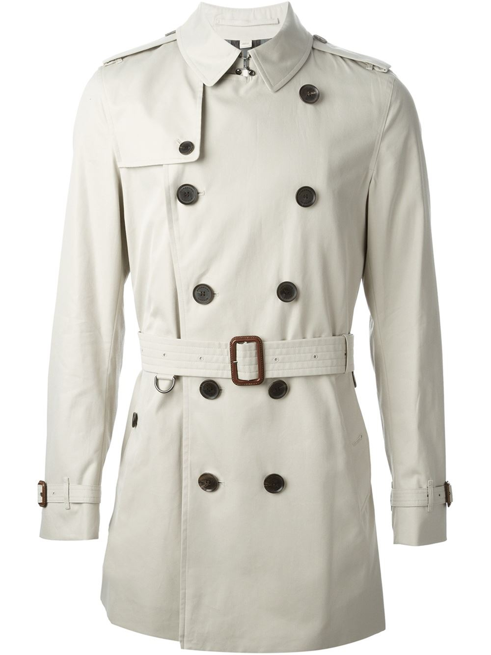 burberry belted cotton trench coat in beige for men nude. Black Bedroom Furniture Sets. Home Design Ideas