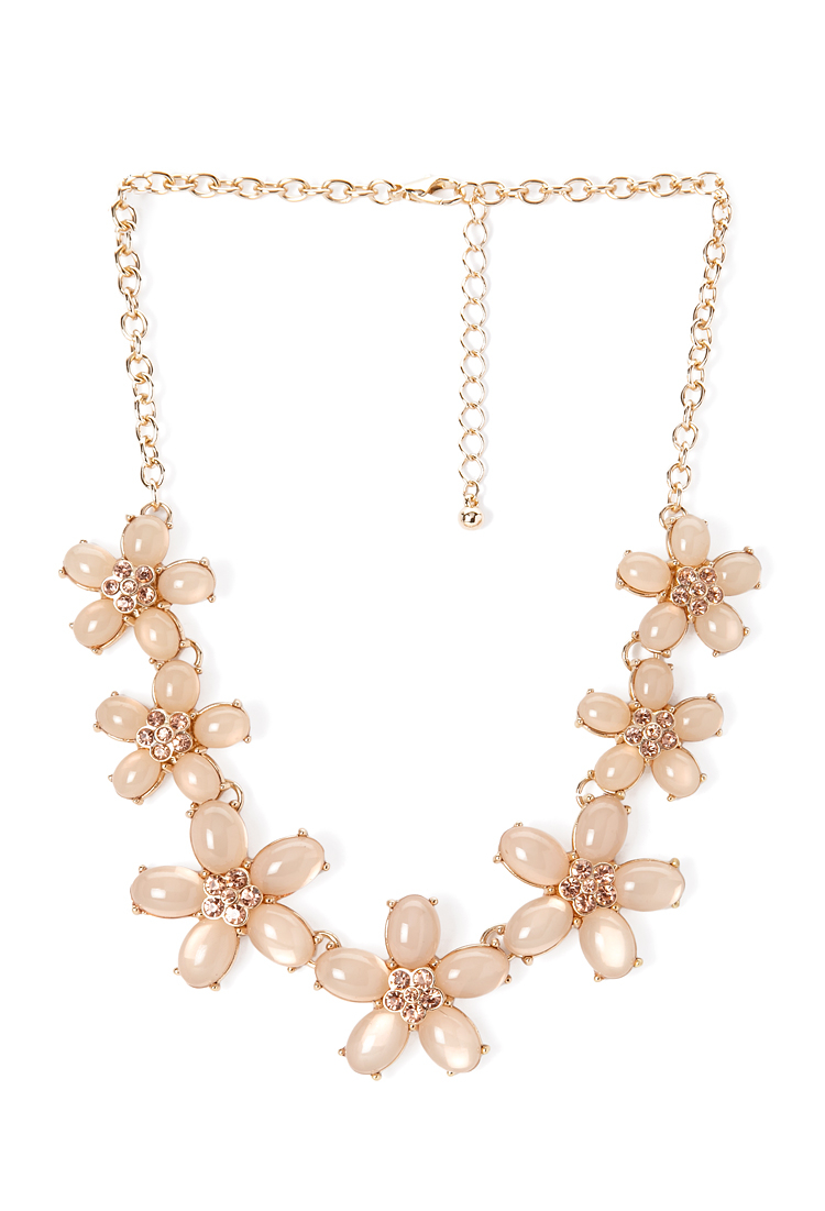 5d6f90c5f3b292 Forever 21 Blossom & Bloom Necklace in Orange - Lyst