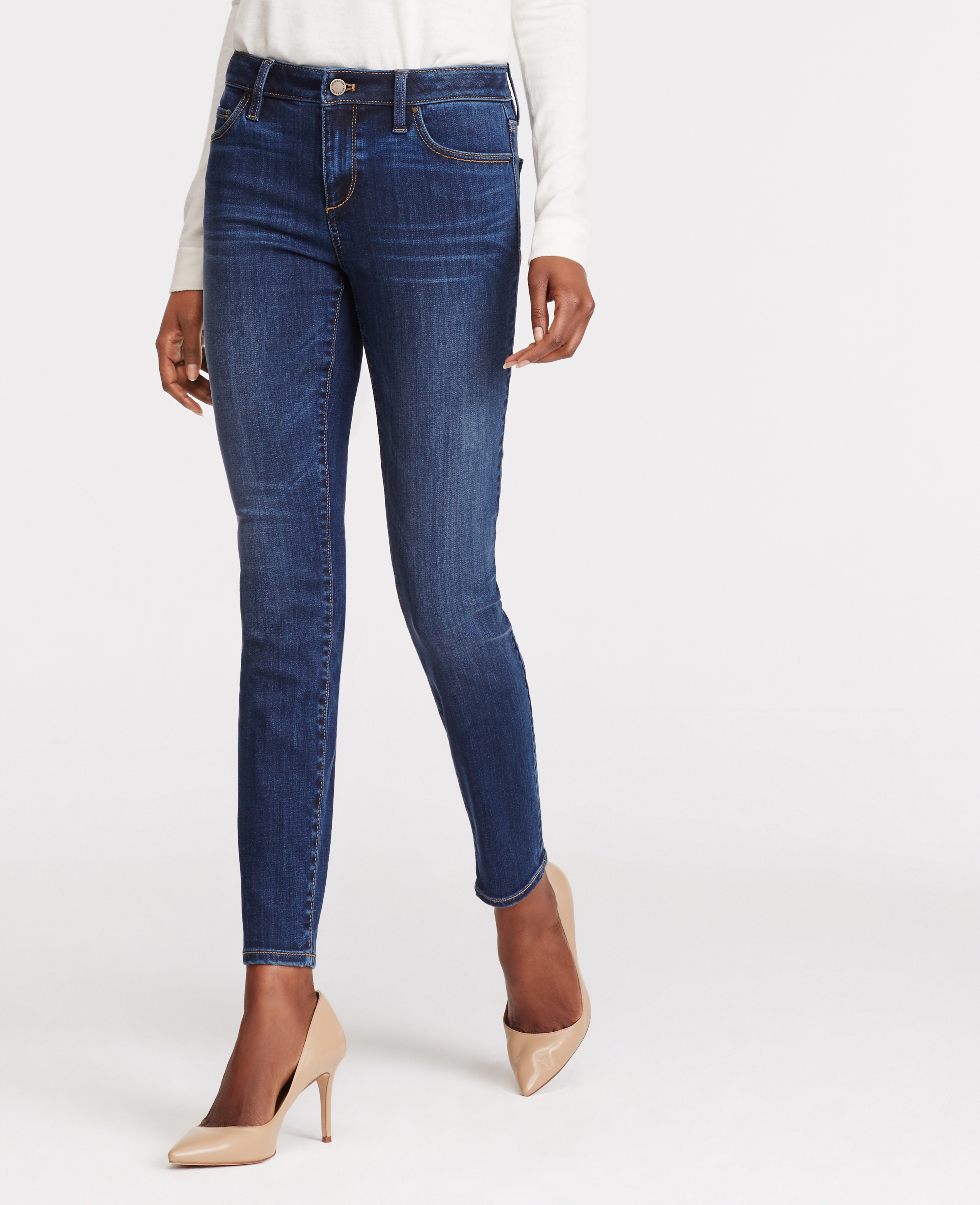 Hi Savana! It's a good question. I personally think that skinny jeans on curvy ladies can look really good, especially if you tuck them into boots!