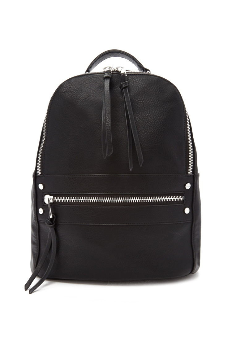 ded988522b7d96 Forever 21 Faux Leather Backpack in Black - Lyst