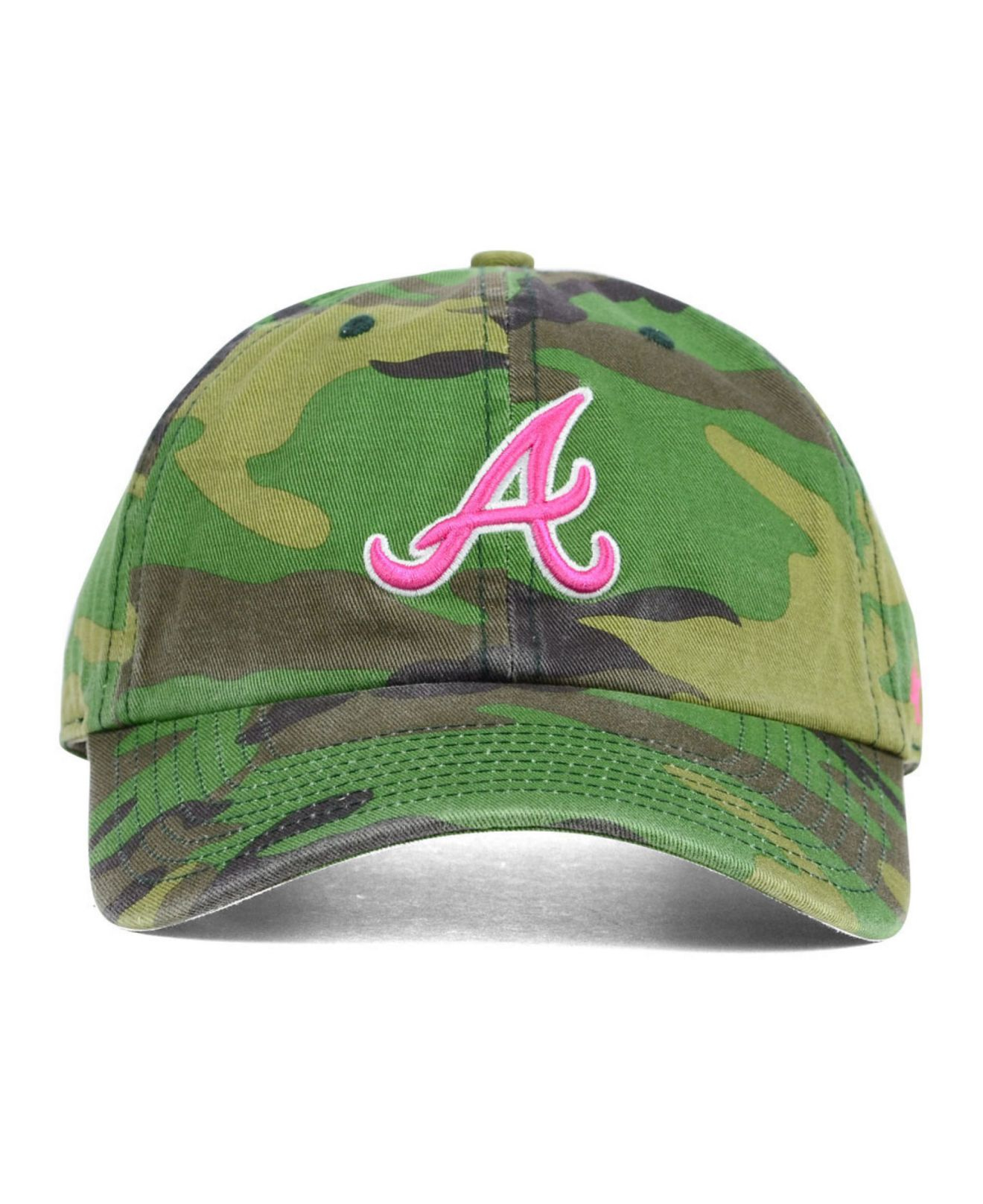 finest selection 2da41 4d6f7 ... hat 1863511169 7625d 69730 sale quite nice 67a2d 8cd29 lyst 47 brand  womens atlanta braves clean up cap in green ...