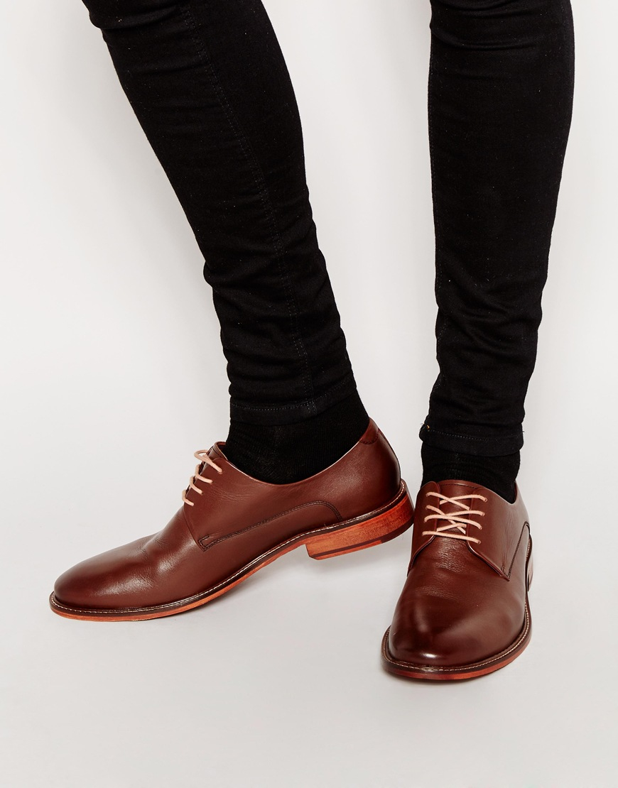 Lyst hommes cuir Baker Chaussures Ted Marron derby en Irron pour TTzqA