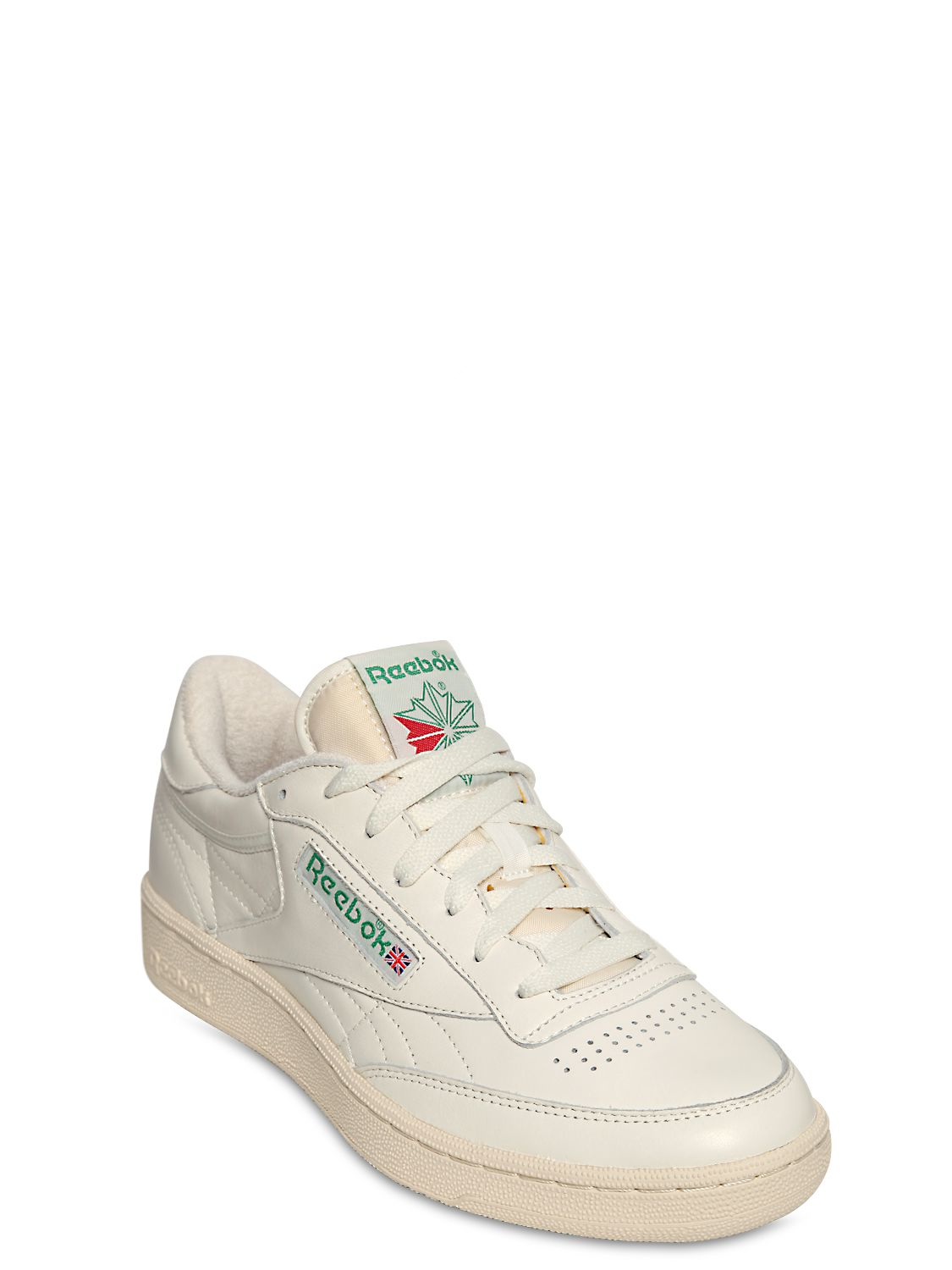 c104377dd ... cheapest lyst reebok club c 85 vintage leather low top sneakers in  white 7dd44 a3d81