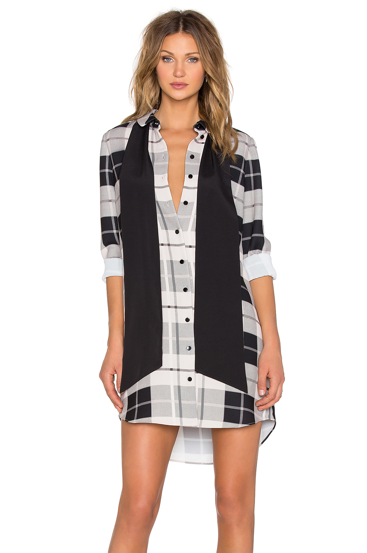 Kate Spade New York Woodland Plaid Shirt Dress In Gray Lyst