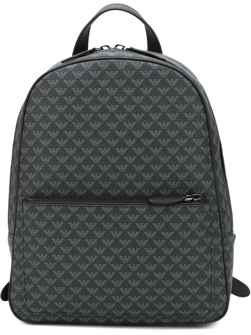 Emporio Armani Logo Print Backpack In Black For Men Lyst