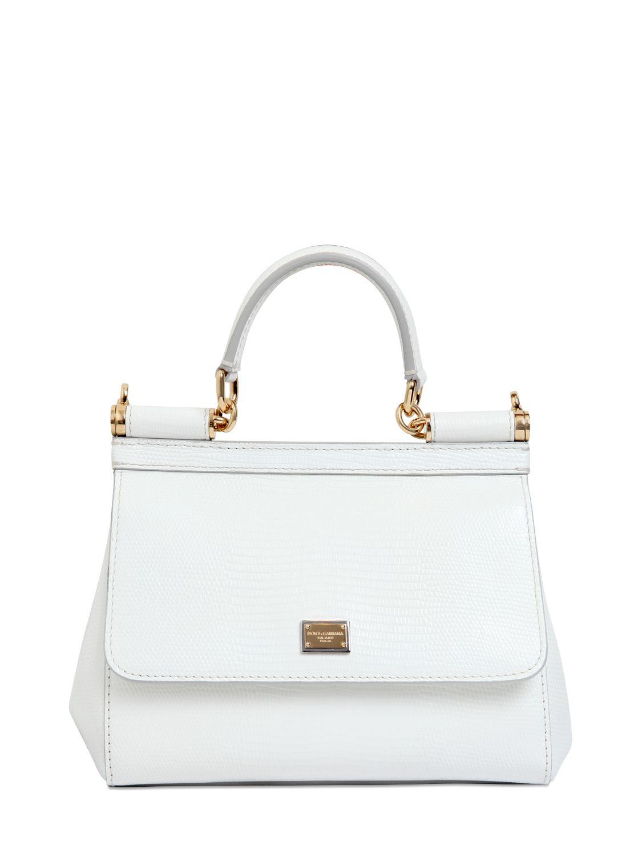 White Sicily small leather shoulder bag Dolce & Gabbana 1uZb4