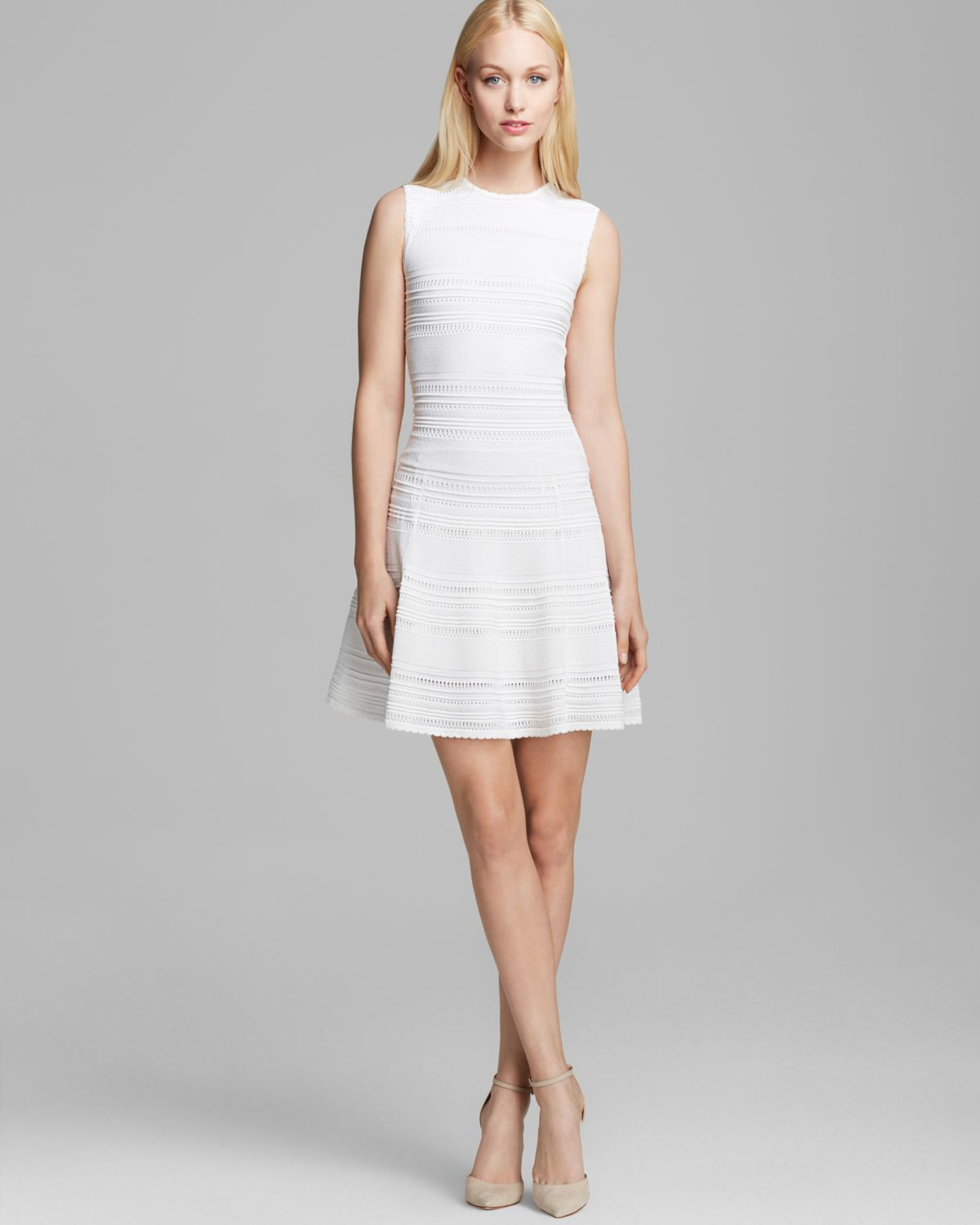 8f1949593c Lyst - Torn By Ronny Kobo Dress Isadora Classic Boho Pointelle in White