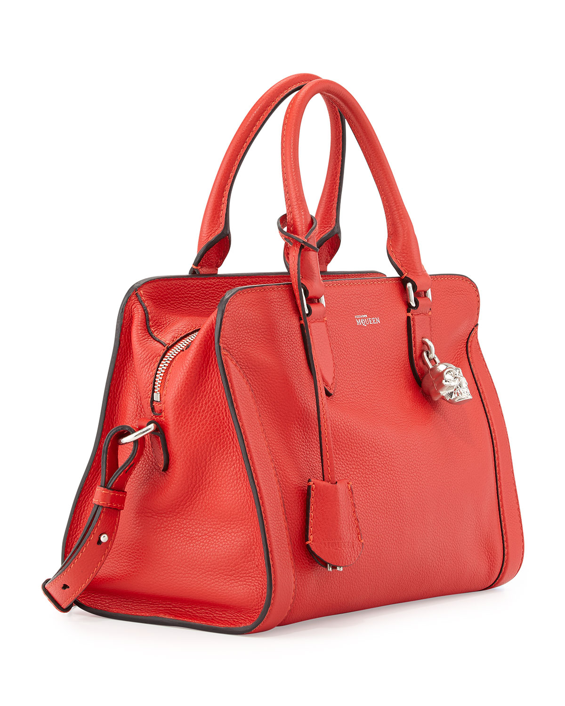 e780d09332bd Lyst - Alexander McQueen Padlock Small Zip-Around Tote Bag in Red