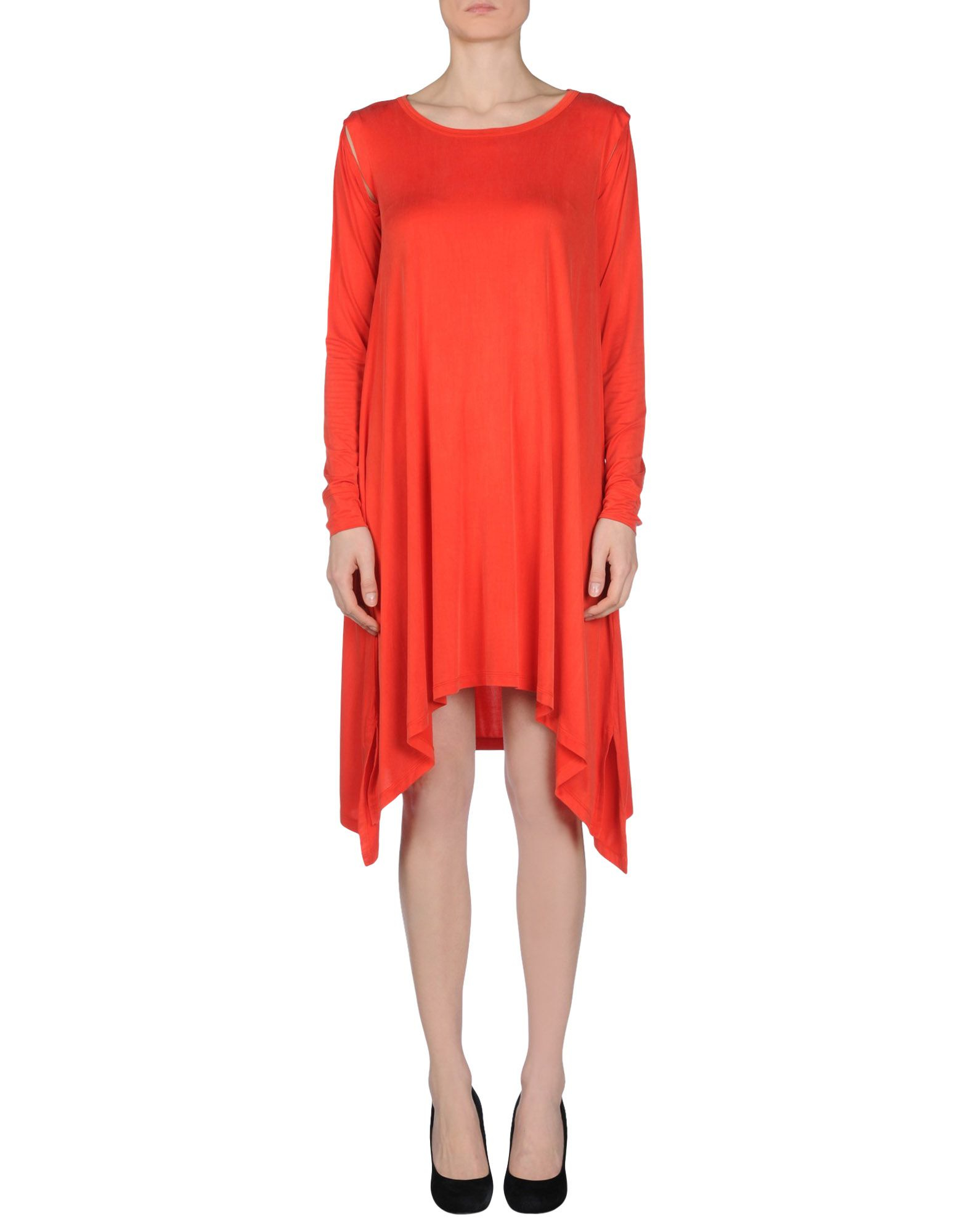 Mm6 by maison martin margiela short dress in red lyst for Mm6 maison margiela