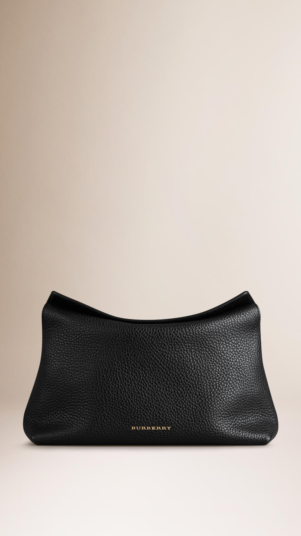 c26effc93bd Burberry Small Grainy Leather Clutch Bag in Black - Lyst