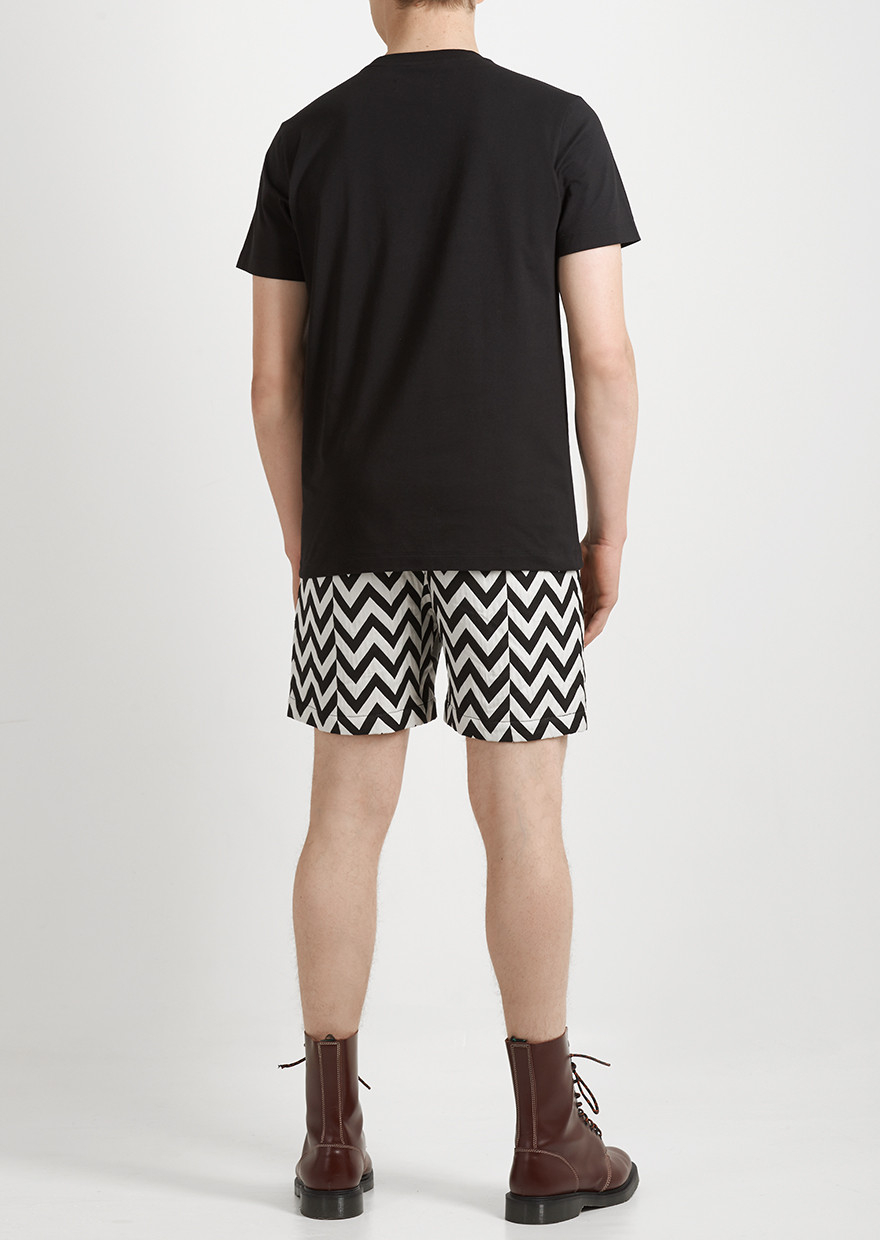 Lyst House Of Holland Zig Zag Shorts In Black For Men