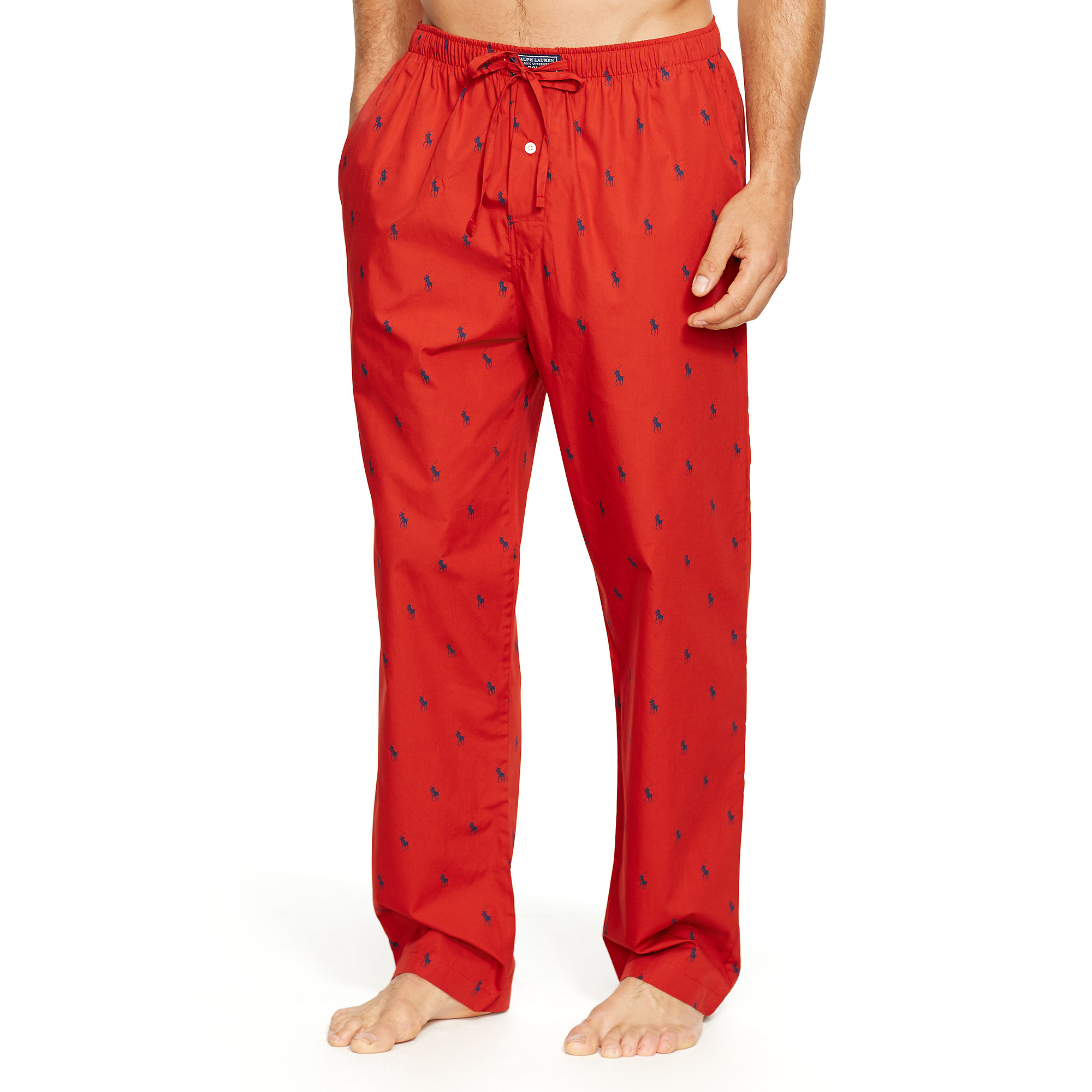 1076cdc7 Polo Ralph Lauren Allover Pony Sleep Pant in Red for Men - Lyst
