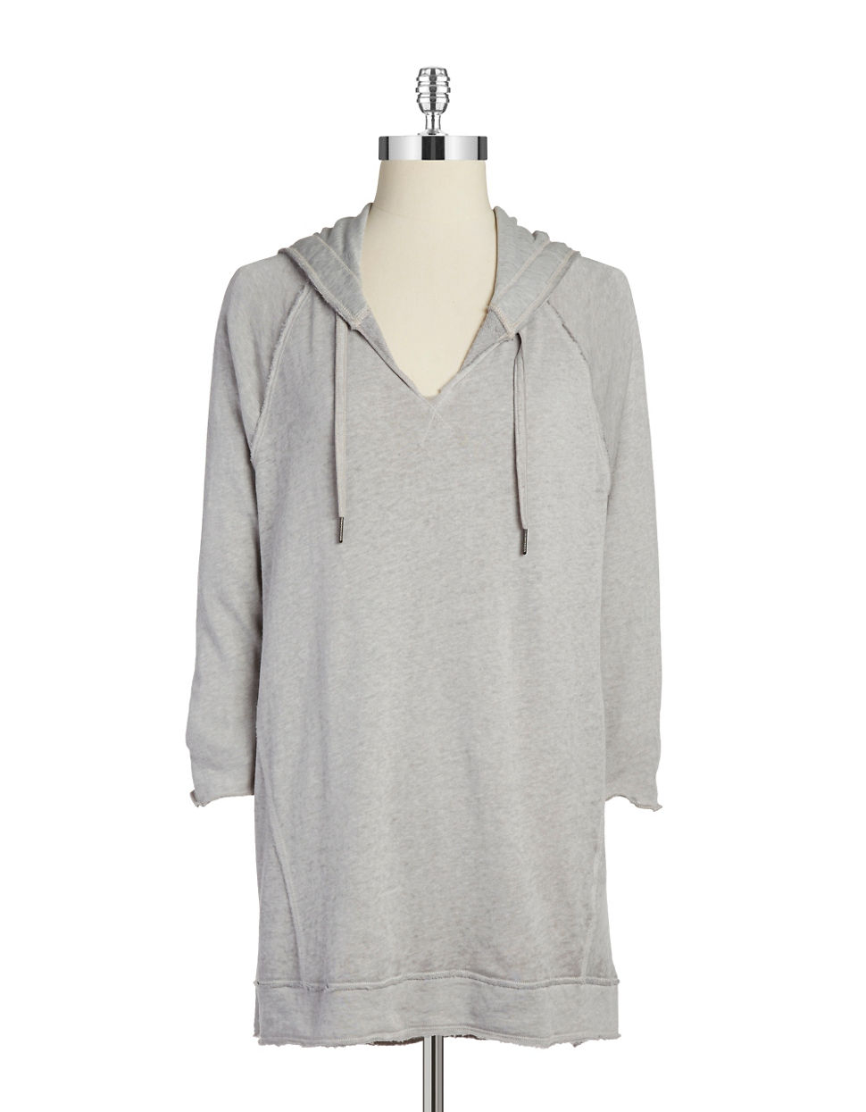 calvin klein terrycloth pullover hoodie in gray cinder lyst. Black Bedroom Furniture Sets. Home Design Ideas