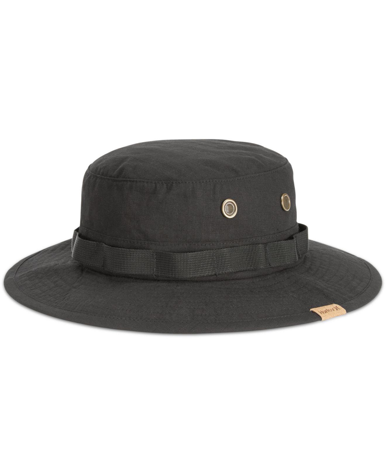 68005874 ... discount code for lyst hurley safari bucket hat in black for men babca  f812e