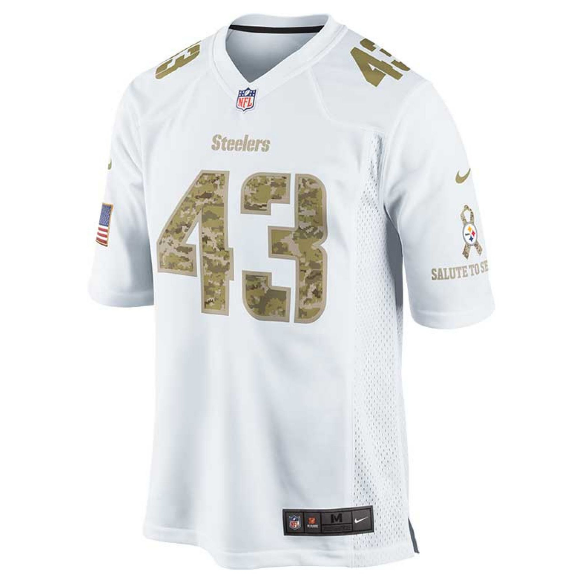 5d7ff89cc ... Nike Troy Polamalu Pittsburgh Steelers Jersey in White for M ...