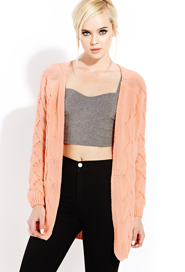 Forever 21 Cozy Chunky Knit Sweater in Orange | Lyst