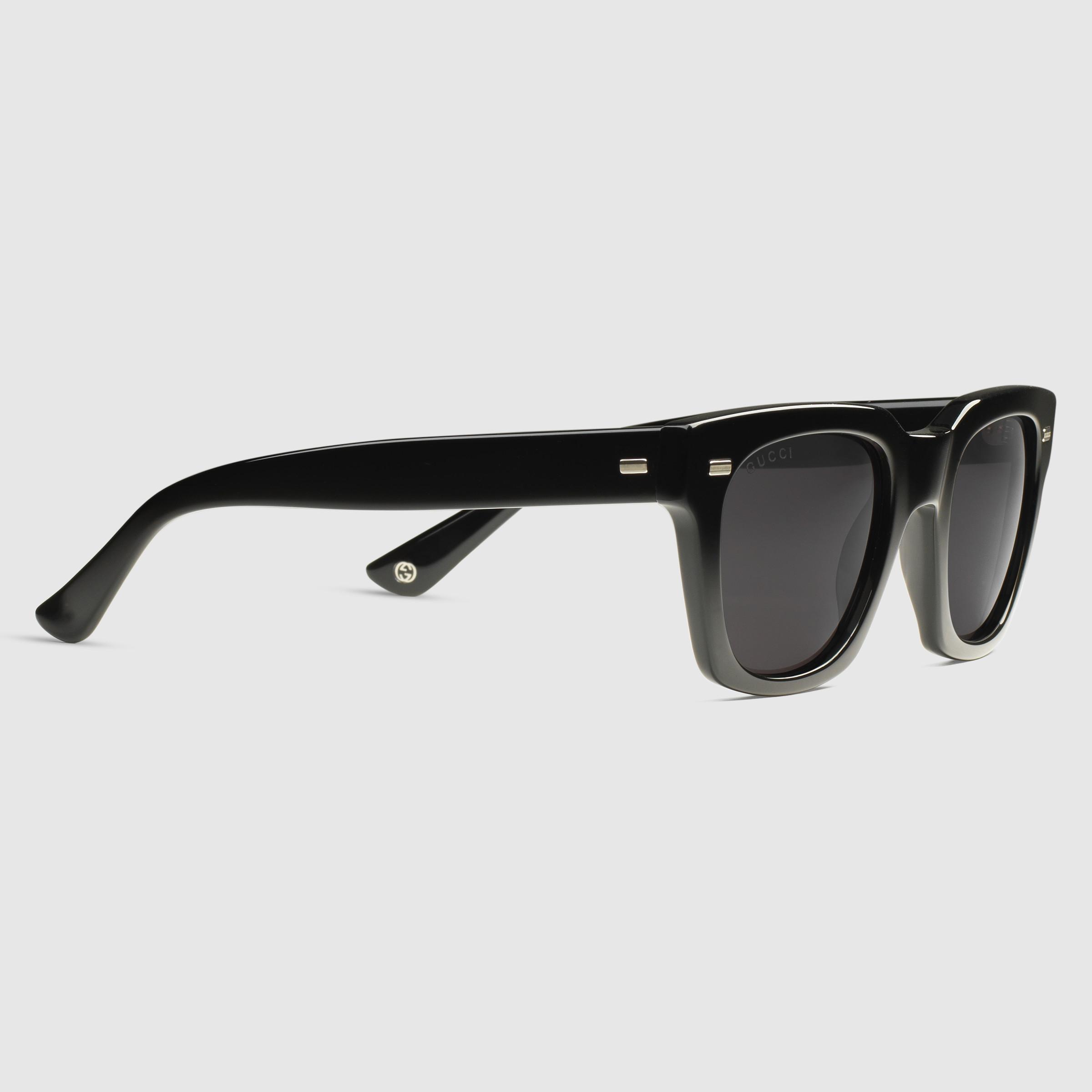 Square Framed Sunglasses  gucci havana square frame sunglasses in black lyst