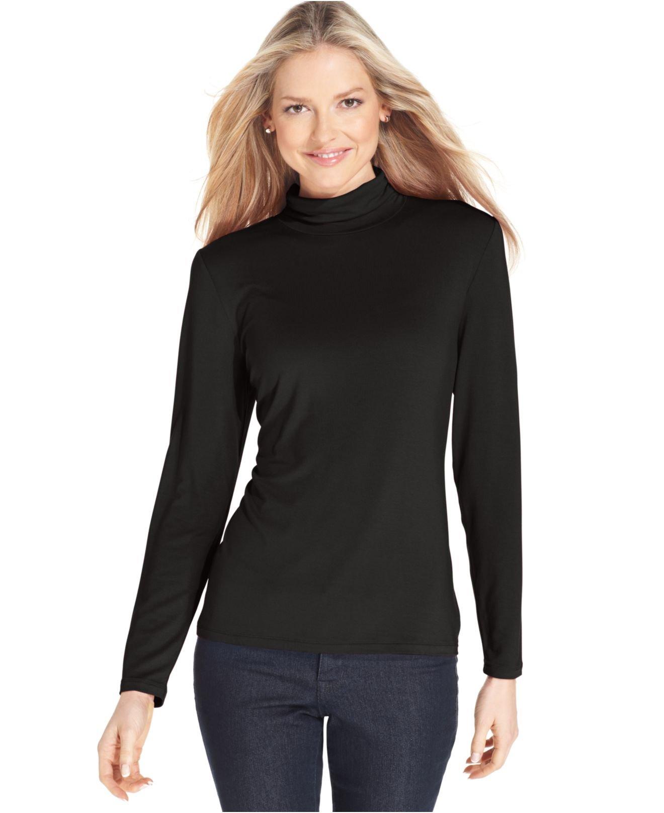 Wear a Mock Turtleneck shirt from Macy's. Find the styling in a Men's Mock Turtleneck or Women's Mock Turtleneck design.