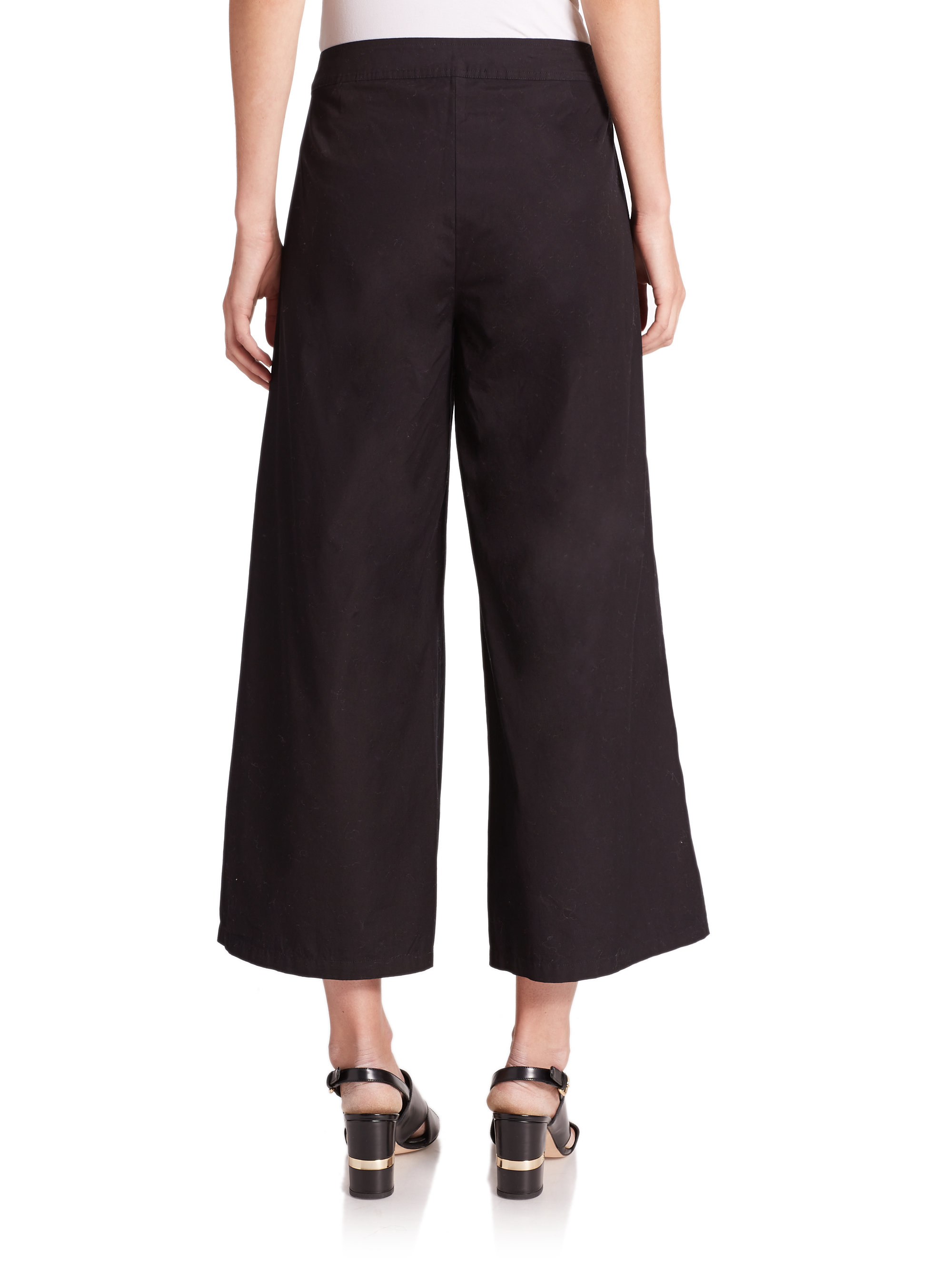 Styling Cropped Trousers. Cropped dress pants can be styled so many ways making them a smart style investment for revamping your wardrobe. These cute cropped pants sit at the waist with a smooth front and sleek straight leg openings in a shorter length. Shop cropped pants for women in a wide array of colors and prints.