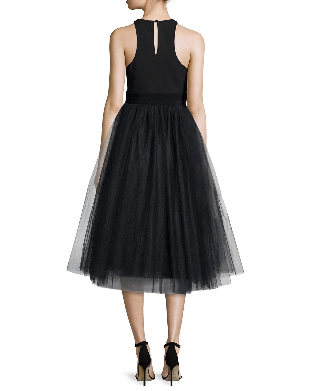 lyst elizabeth and james aneko fit flare dress in black. Black Bedroom Furniture Sets. Home Design Ideas