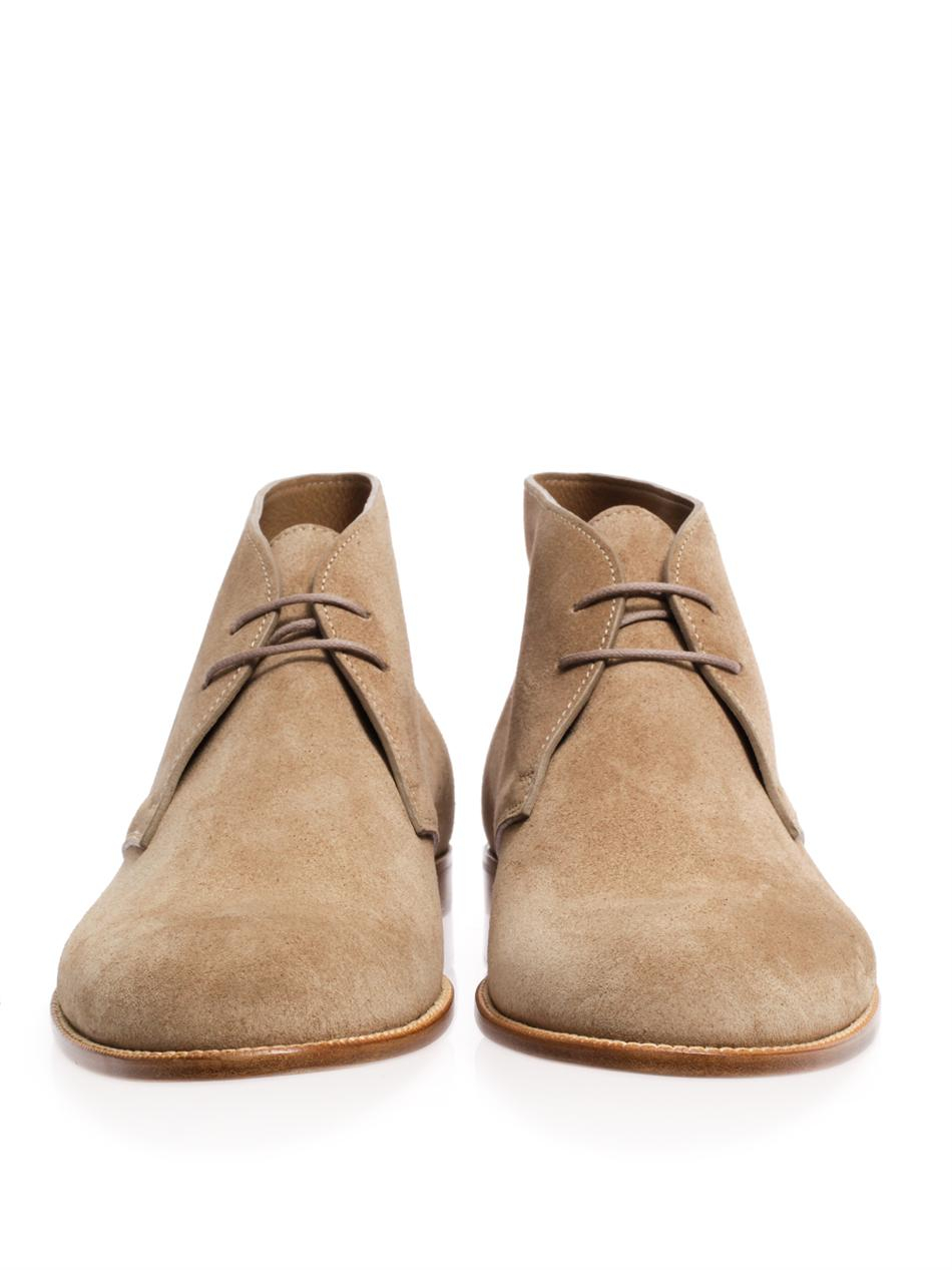 bottega veneta suede desert boots in for lyst