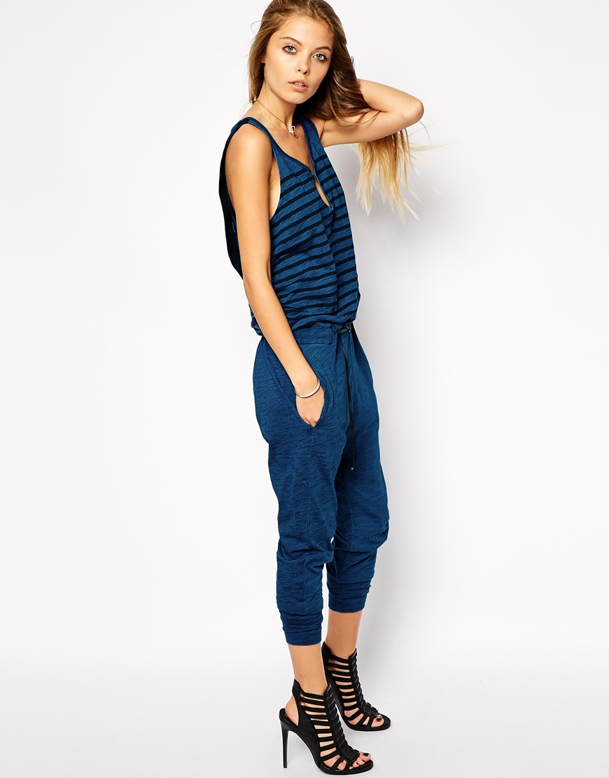 a142d127755 Lyst - G-Star Raw G Star Sleeveless 2 In 1 Jumpsuit in Blue