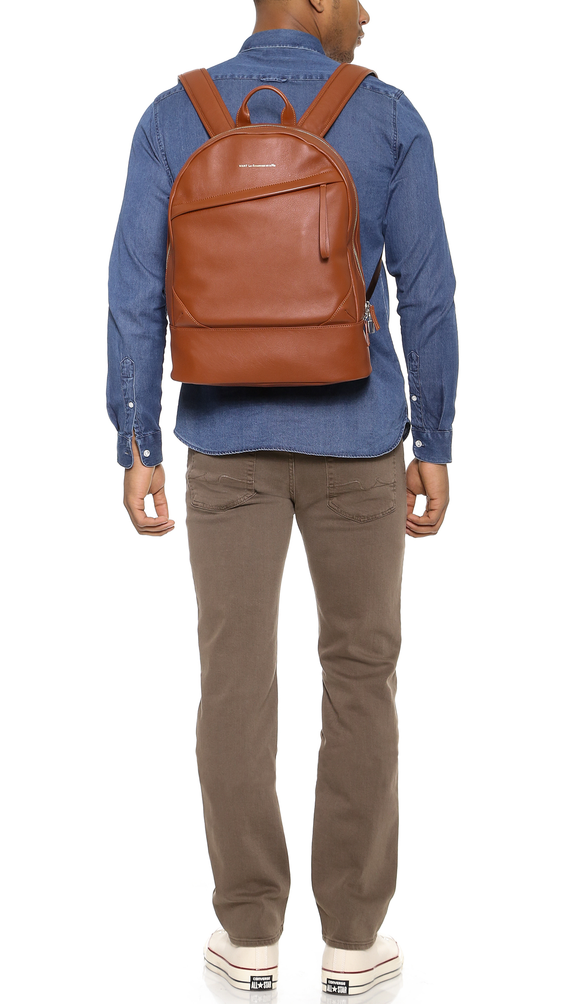 Want Les Essentiels De La Vie Kastrup Leather Backpack in Cognac (Brown) for Men