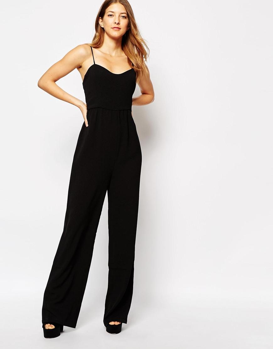 Lyst - Ganni Sleeveless Jumpsuit In Black