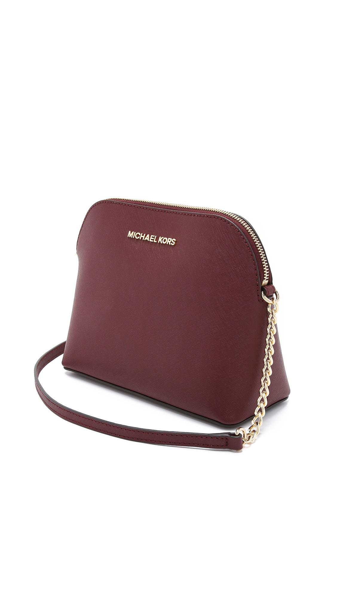 99eeb993b107 MICHAEL Michael Kors Cindy Dome Cross Body Bag in Purple - Lyst