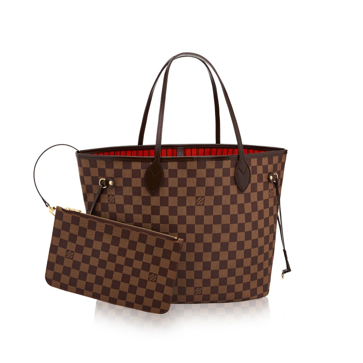louis vuitton neverfull mm in brown damier ebene canvas. Black Bedroom Furniture Sets. Home Design Ideas