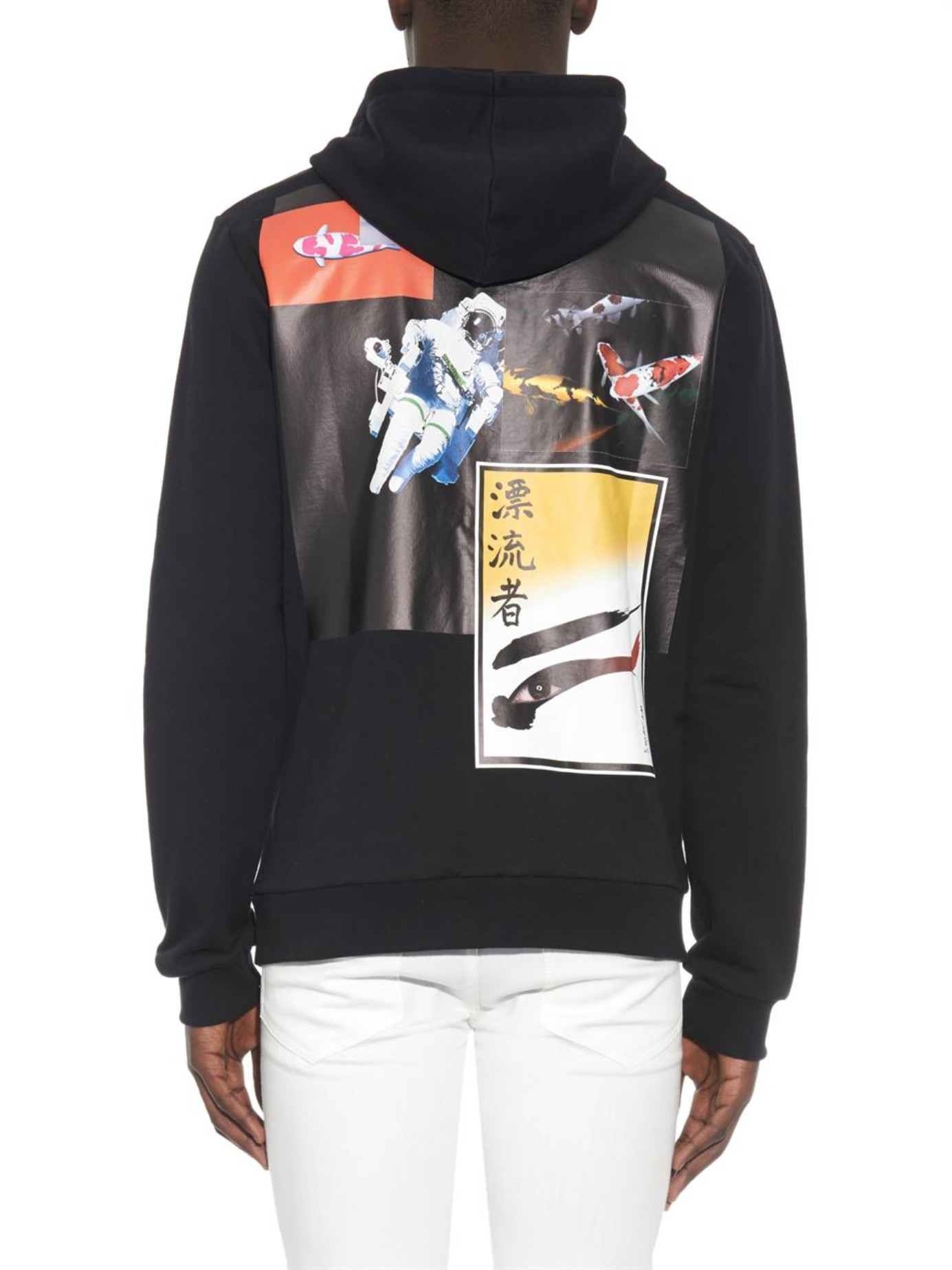 be50e62493b2 Raf Simons Astronaut-print Cotton Hooded Sweatshirt in Black for Men ...