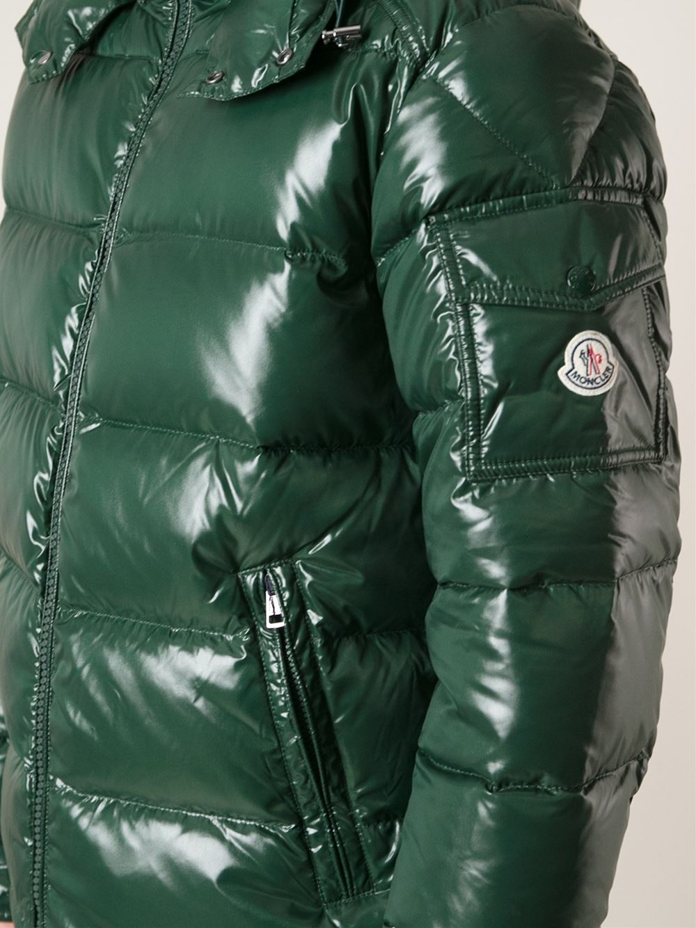 986767ebe Lyst - Moncler Maya Lacquered Jacket in Green for Men