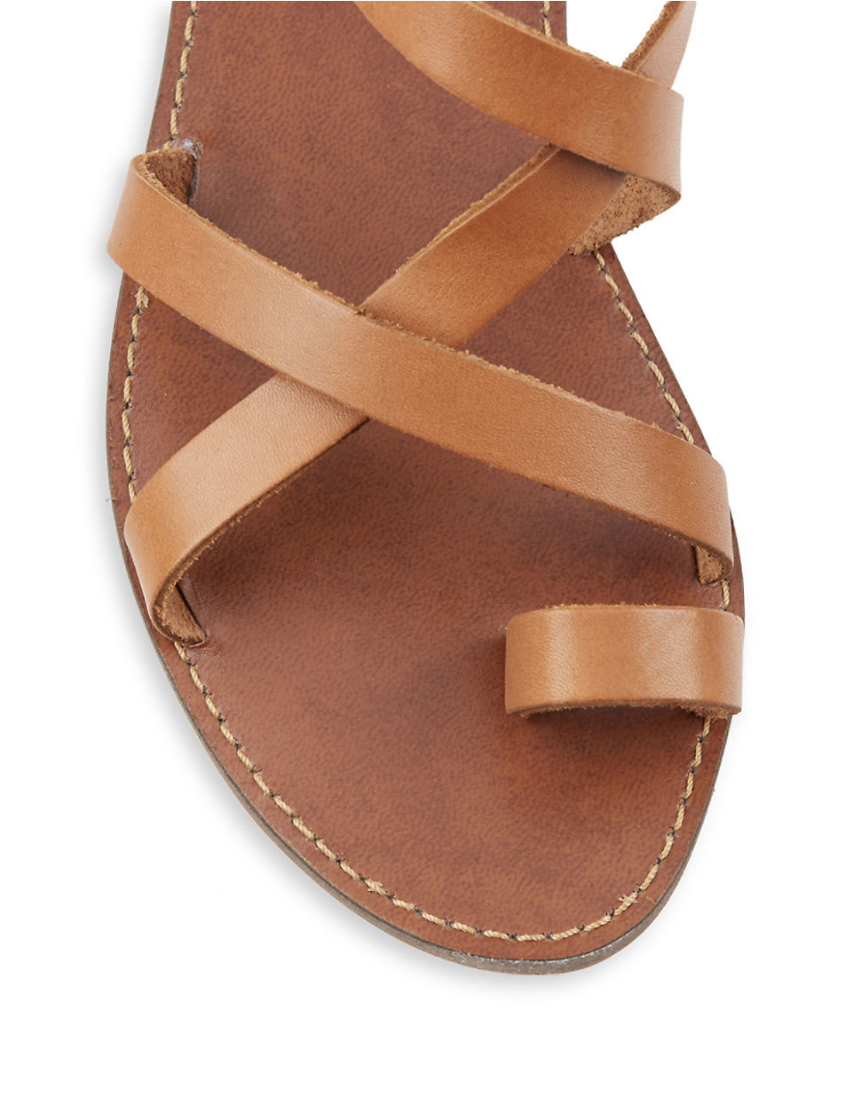 373f7e69c44 Steve Madden Agathist Leather Strappy Sandals in Brown - Lyst
