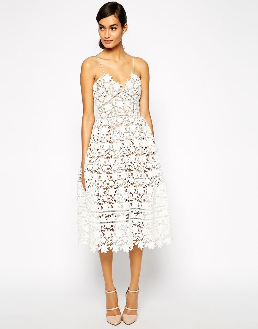 Lyst Self Portrait Azaelea Midi Dress In Textured Lace