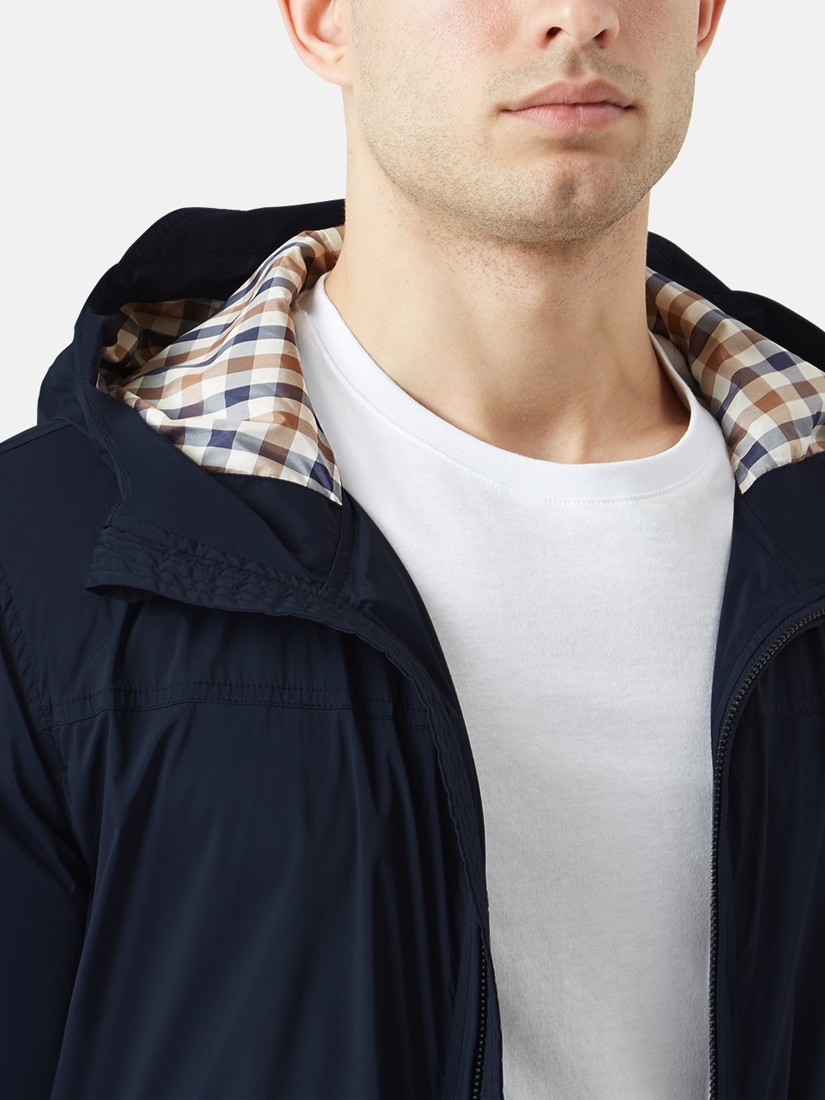 Aquascutum Synthetic Beacon Hooded Jacket in Navy (Blue) for Men