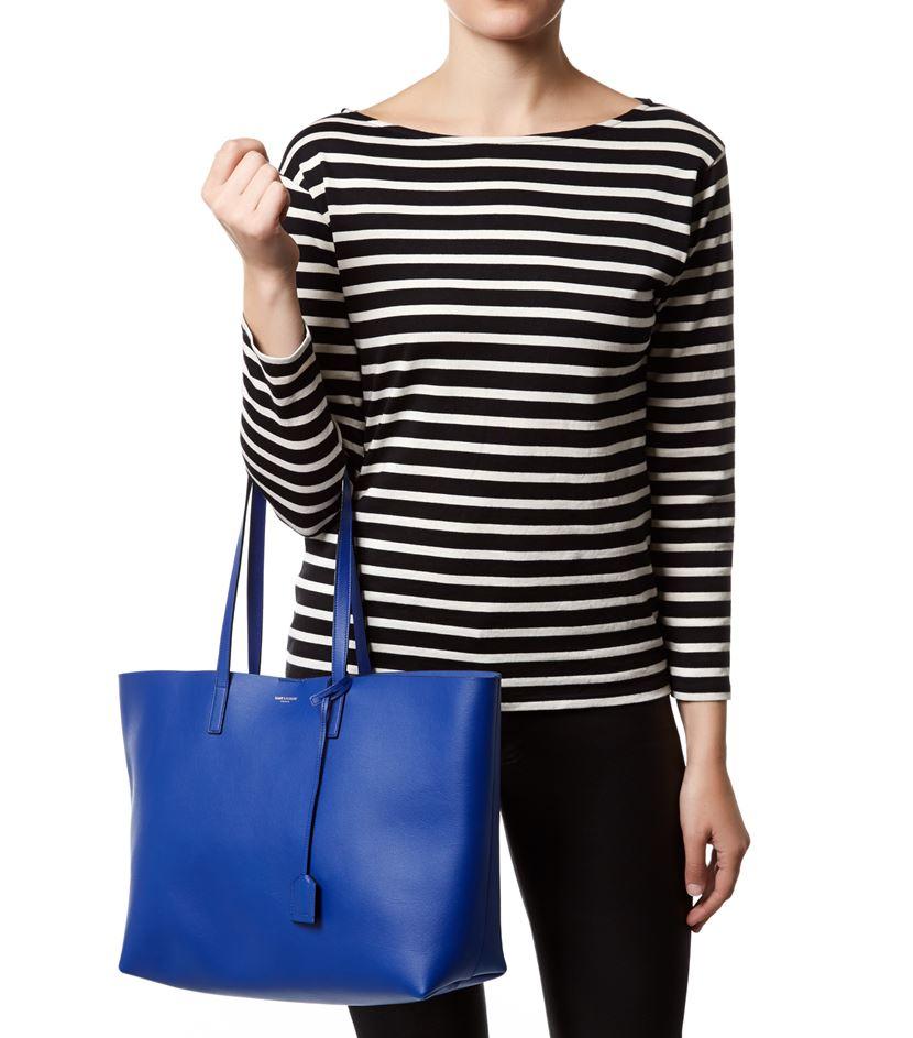 0284f4d6bb2 Saint Laurent Large Shopper Tote in Blue - Lyst
