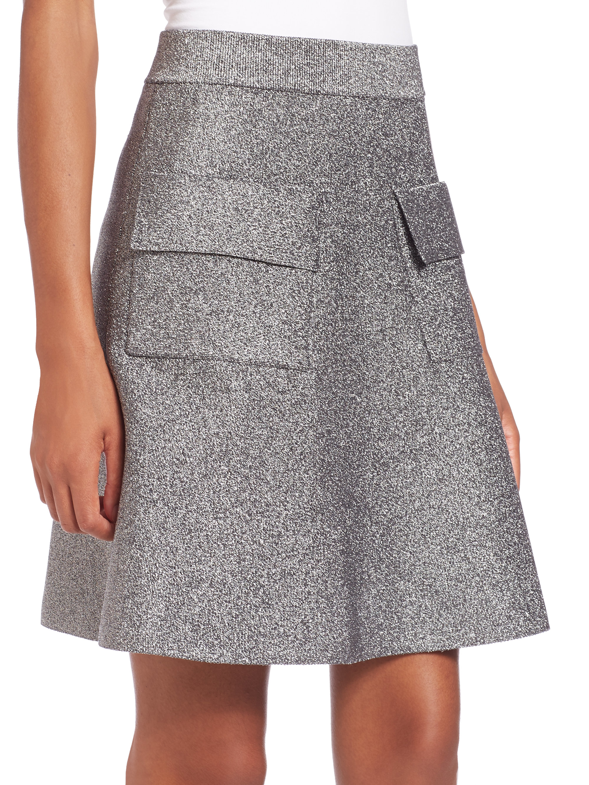 A.l.c. Aaron Pocket A-line Skirt in Gray | Lyst