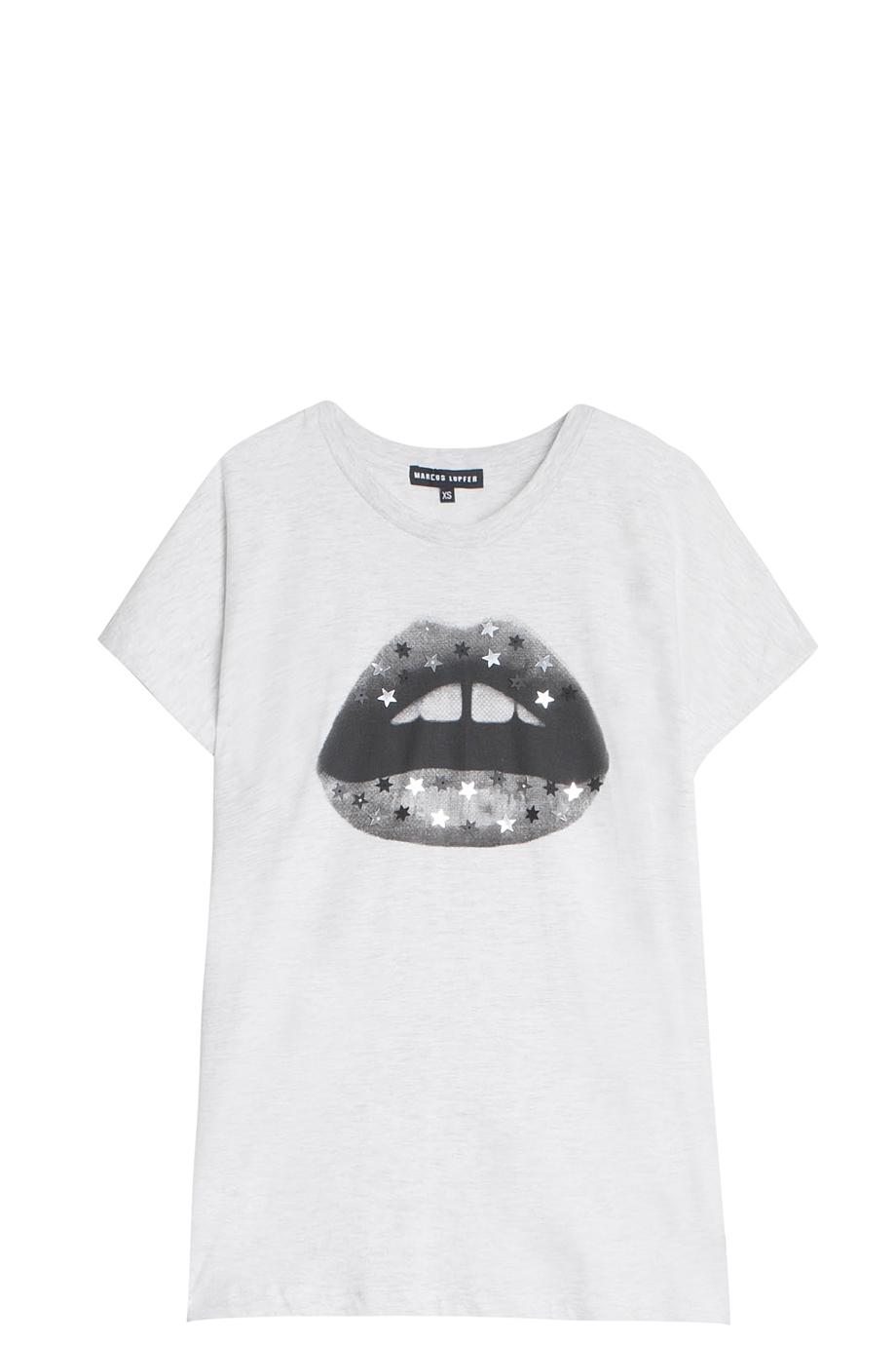 Lyst Markus Lupfer Star Lip T Shirt In Gray